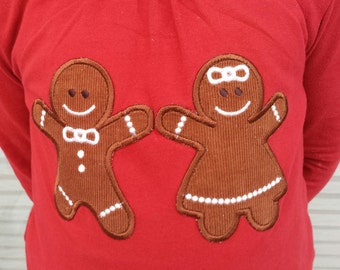 Cute Christmas Gingerbreads 6 types - machine embroidery applique and ITH (in the hoop) 4x4 and 5x7 INSTANT DOWNLOAD