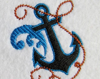 Awesome and simply anchor embroidery and applique designs, lot of sizes urban embroidery