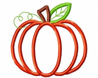 Classic Pumpkin Applique Design ~ Fall Pumpkin - awesome classic pumpkin embroidery, pumpkin applique, little pumpkin princess