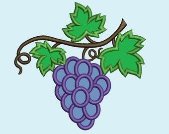 Grape, Wine leaves, Small, wine leaves vine, vine leaf, leaves, vine - machine embroidery applique designs, available combinations