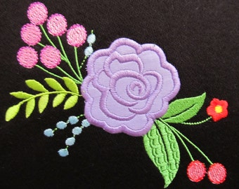 Shabby Chic Flowers Bouquet - machine embroidery designs for embroidery hoops 4x4 and 5x7