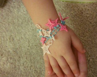 Lace little fairy bracelet FSL, Free standing jewelry embroidery design  4x4  water soluble stabilizer EMBROIDERY