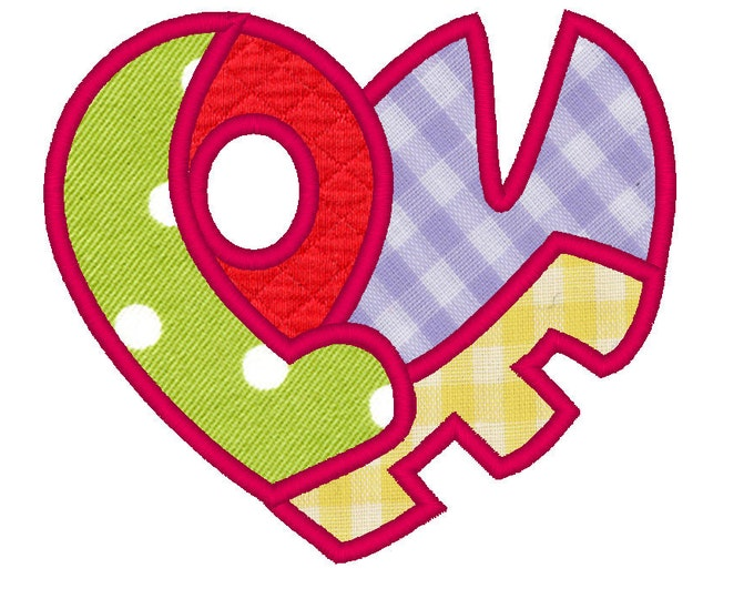 Magic valentine heart - Love Heart - machine embroidery fill stitch and applique designs - 4x4, 5x7 and 6x10 INSTANT DOWNLOAD