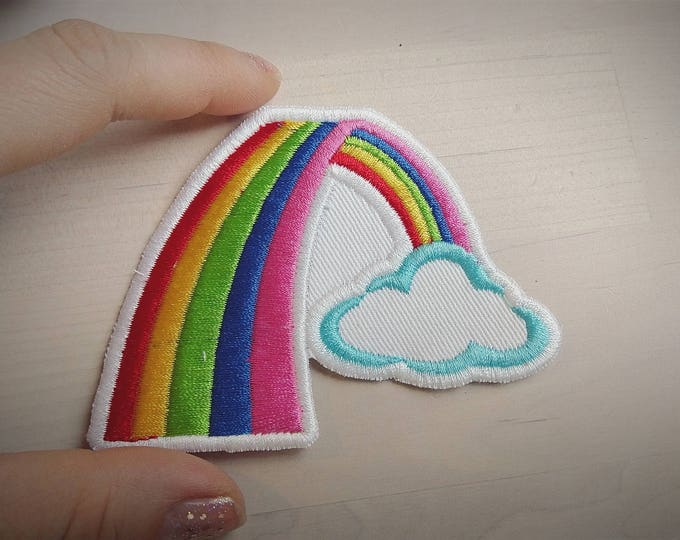 Rainbow patch - machine embroidery rainbow patch applique designs assorted sizes mini designs  INSTANT DOWNLOAD