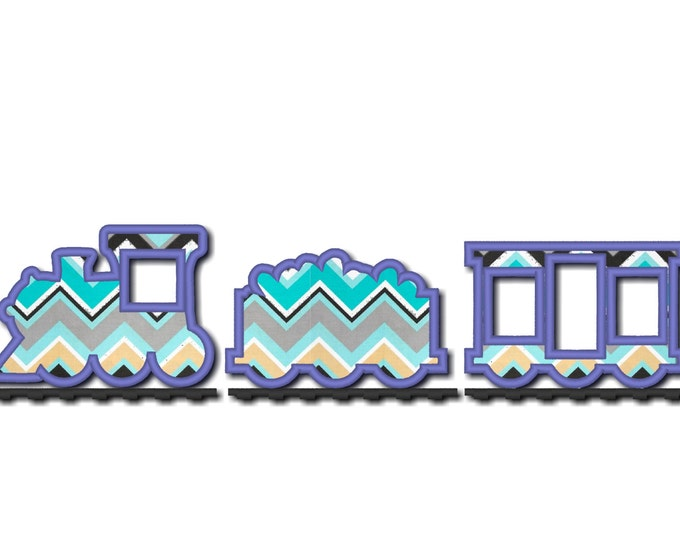 choo choo Simply Train applique 3 designs - machine embroidery applique designs - INSTANT DOWNLOAD, for hoops 4x4 and 5x7