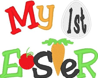 My First Easter - machine embroidery designs 4x4 and 5x7 INSTANT DOWNLOAD