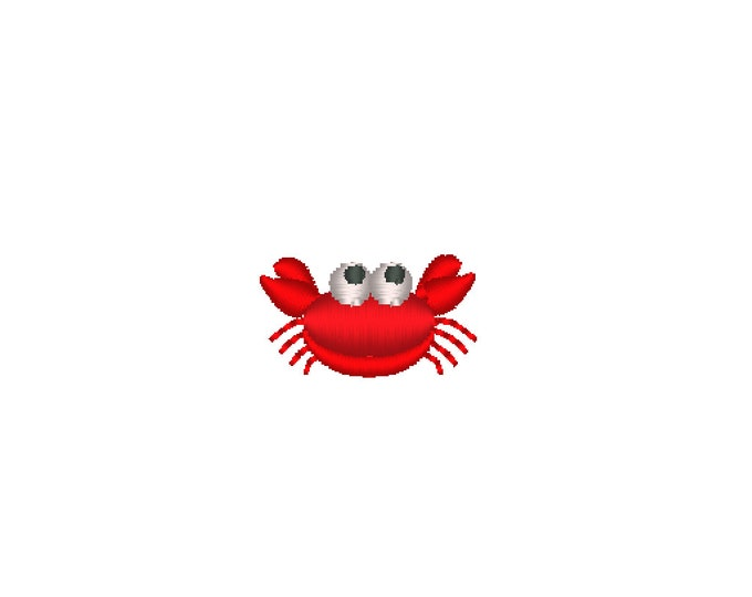 Little crab micro designs, machine embroidery designs, less than one inch sizes