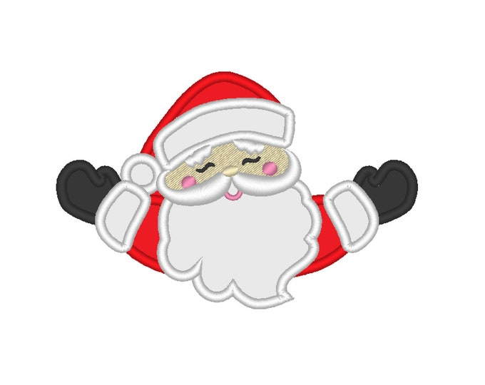 Peeking Santa Claus, peeker Santa Claus, welcome Santa Claus Old fashioned awesome Santa unique new embroidery design sizes 4x4, 5x7 6x10