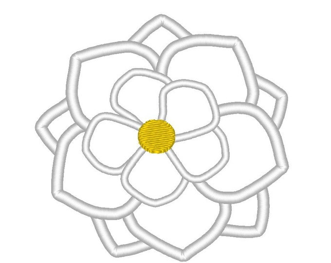 Magnolia Flower Embroidery Design - multiple sizes  INSTANT DOWNLOAD