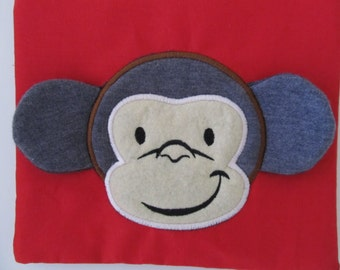 Monkey head ears ITH in the hoop 3D - machine embroidery applique designs - 4x4 and 5x7 INSTANT DOWNLOAD