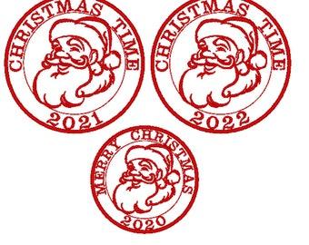 Santa mail express 2020, 2021, 2022, 2023 Christmas sack stamp machine embroidery designs assorted sizes Christmas stocking Santa Claus