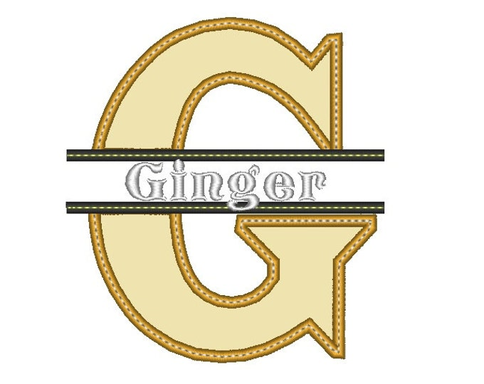 Discount - 40%  Split Bold Applique Alphabet embroidery designs - 4 and 5 inches height INSTANT DOWNLOAD