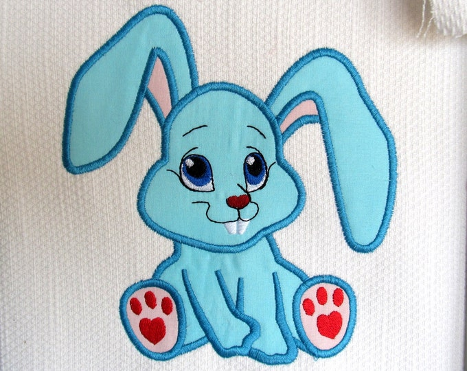 Cute Bunny, rabbit Machine Applique embroidery designs, multiple sizes for  hoop  INSTANT DOWNLOAD 4x4, 5x7 and 6x10