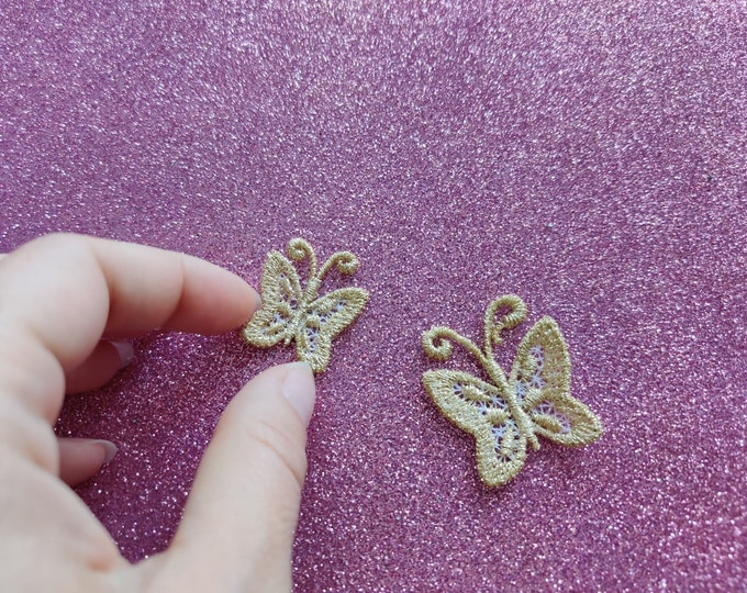 Micro wee butterfly mini  as three-dimensional, 3 dimensional, FSL, Free standing lace embroidery design