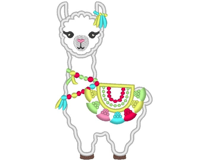 Tassels Llama, Fringed tassel applique, Lama boho, tassel, llama, ITH In the hoop machine embroidery design