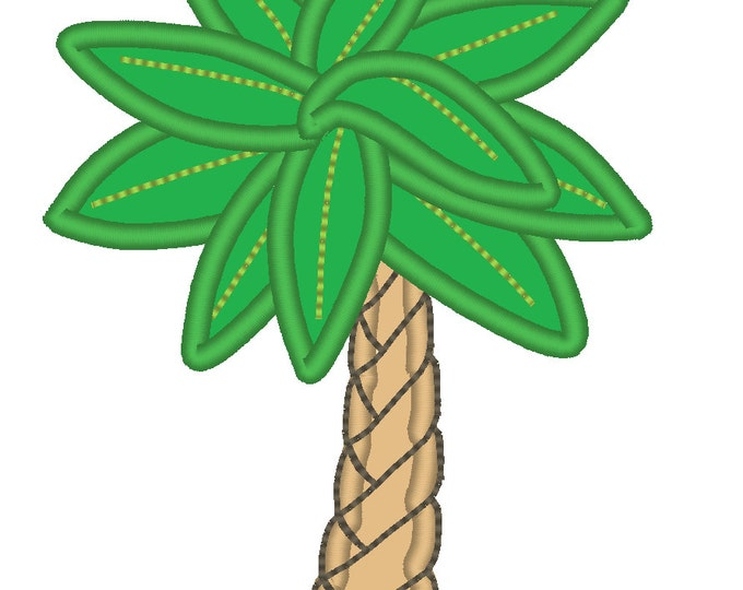 Cool Palm tree - machine embroidery applique and fill stitch designs - for hoop 4x4, 5x7, 6x10  INSTANT DOWNLOAD