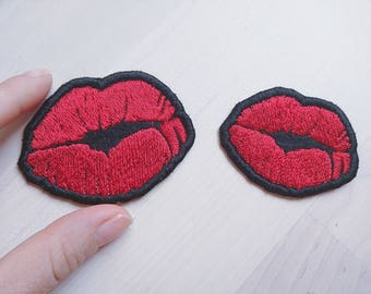 Kiss patches - machine embroidery kiss patch applique designs assorted sizes mini designs  INSTANT DOWNLOAD