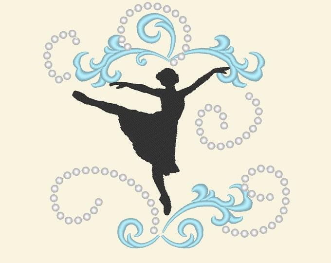 Unique dancer embroidery outline designs / 4x4, 5x7  dancer embroidery designs, multiple sizes