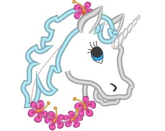 Unicorn head - machine embroidery designs applique Rainbow unicorn embroidery  INSTANT DOWNLOAD