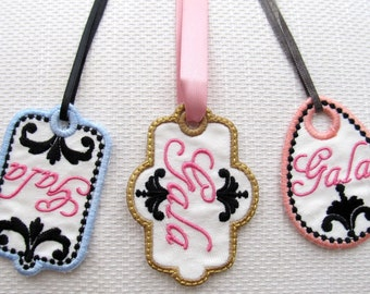 Western, wedding, glamour name-tags - Easy In The Hoop Machine Embroidery Applique designs, for hoop 4x4 3 types  INSTANT DOWNLOAD