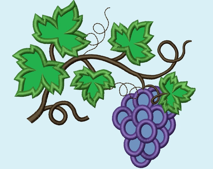 Grape, Wine leaves, Big, wine leaves vine, vine leaf, leaves, vine - machine embroidery applique designs, available combinations
