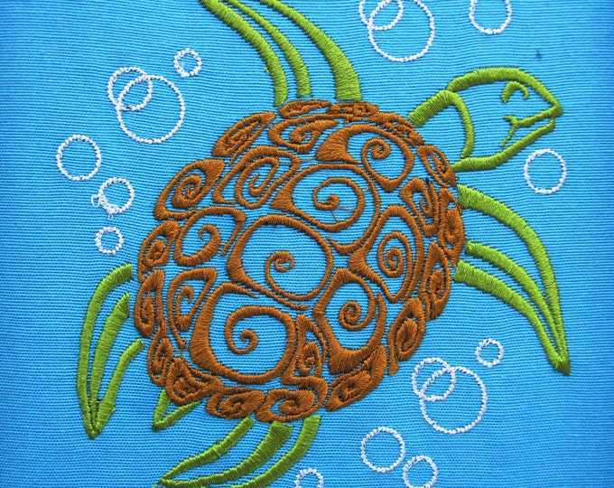 Sea turtle - machine embroidery designs 4x4 5x7 and 6x10