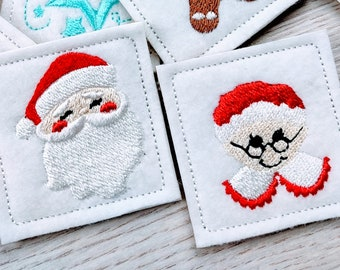 Mr and Mrs Santa Claus small mini micro Christmas embroidery designs INSTANT DOWNLOAD