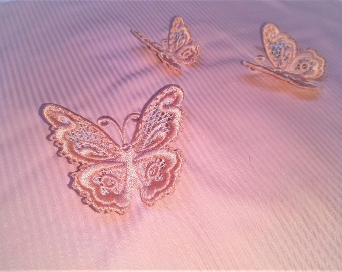 Medium delicate Butterfly 3D  three-dimensional, 3 dimensional, FSL, Free standing lace embroidery design in the hoop ITH 1.5, 2 and 3 inch