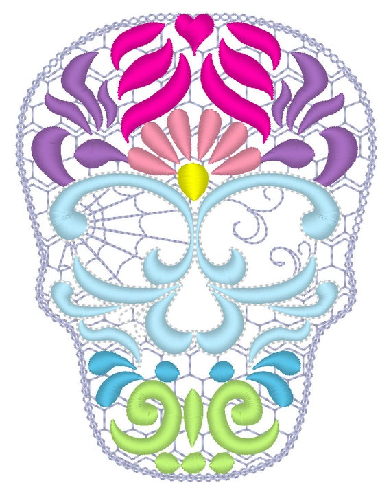 key fobs felties Skull calavera key fob in the hoop embroidery project ith key fob mini embroidery design