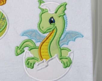 Petite Dragon - machine embroidery fill stitch and applique designs hoop 4x4 and 5x7