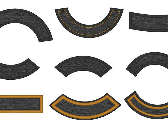 Arc shape for Rocker - machine embroidery applique designs for hoop 4x4 and 5x7, 6x10, 8x12  INSTANT DOWNLOAD