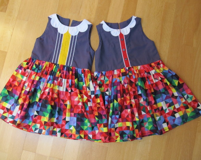 ITH embroidery machine project /Twins dresses 2 - machine In-the-hoop embroidery designs - for hoops 6x10 and 8x12