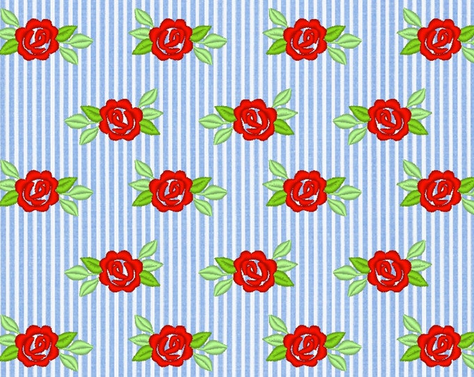 Awesome classic roses mini sizes for fabric embellishment and great add-on to any design, floral machine embroidery design in assorted sizes
