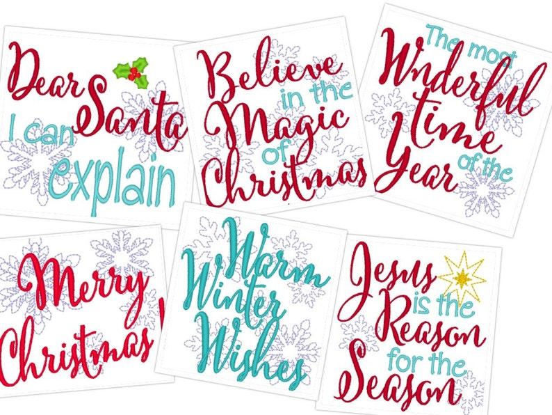 Buon Natale 4x4.Buon Natale Quotes Macchina Ricami 4 X 4 Santa Believe Magia Meraviglioso Caldo Inverno Augura Gesu Motivo Disegni
