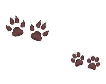 Mini micro small paws prints embroidery designs machine embroidery designs,a set less than one inch one paw sizes face mask mini designs