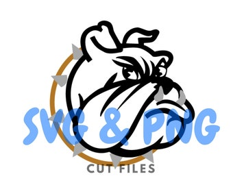 Bolldog SVG and PNG cut files to use with the Silhouette Cameo or Cricut
