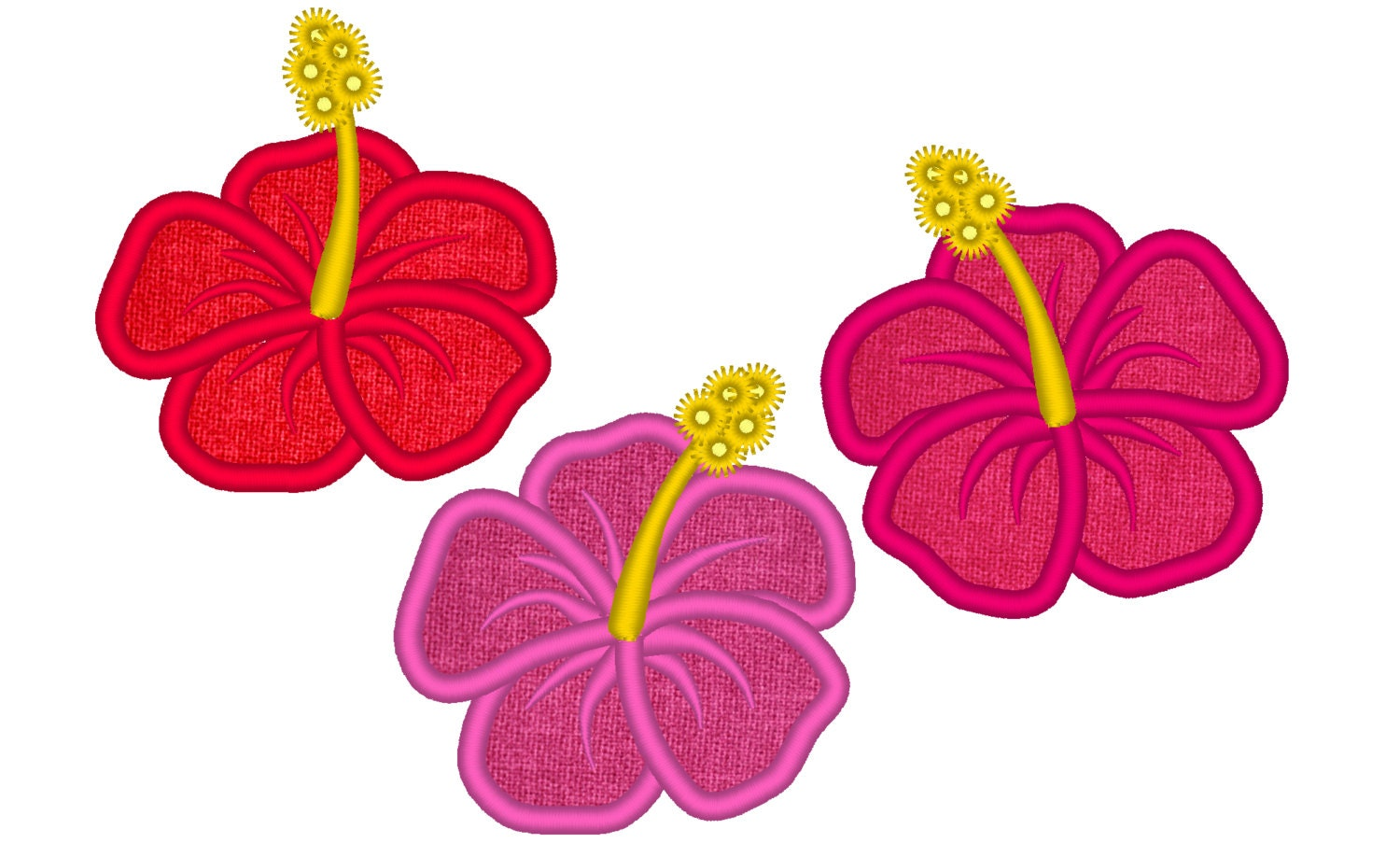 Hibiscus Flowers Set 3 Types Hawaii Summer Flower Etsy