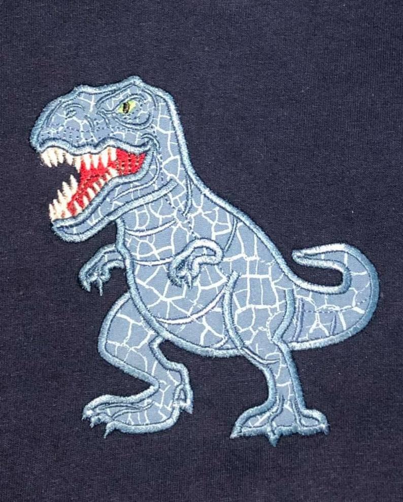 süße realistische trex dinosaurier maschine stickerei  etsy