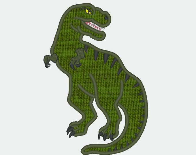 T-rex dinosaur machine embroidery and applique designs - multiple sizes, for hoop 4x4, 5x7, 6x10  INSTANT DOWNLOAD