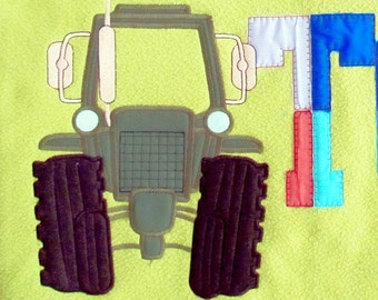 Tractor - embroidery applique designs hoops 4x4, 5x7, 6x10