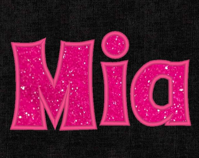 Monogram applique Font machine embroidery applique designs, monogram, alphabet 1.5, 2, 3, 4, 5 lowercase uppercase letters and punctuation
