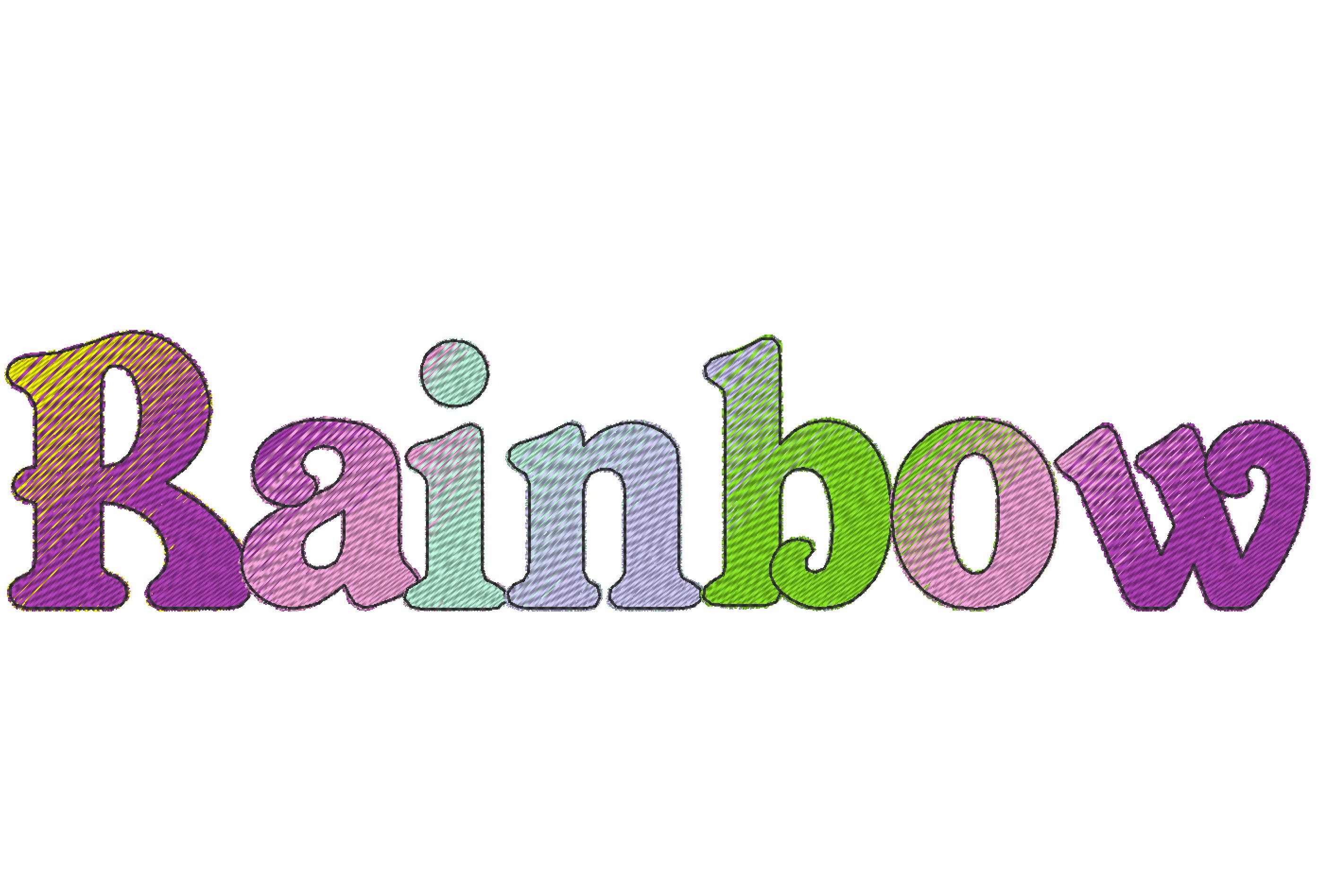 Eva Iridescent 2 Color block Monogram FONT alphabet ...