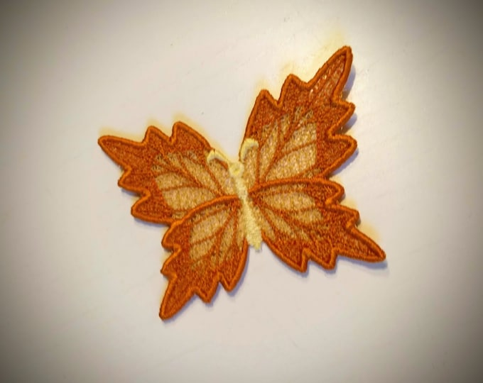 Autumn Butterfly Dimensional,  FSL, Free standing lace embroidery design in the hoop ITH embroidery 4x4 5x7 assorted sizes