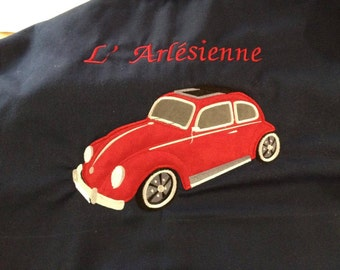 Car beetle, bug- machine embroidery applique and filled  design - INSTANT DOWNLOAD for hoop 4x4,5x7, 6x10