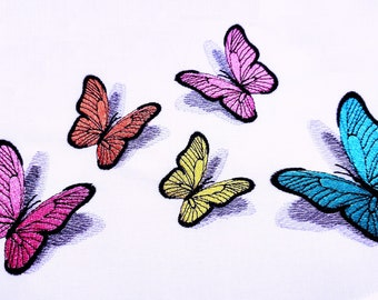 Realistic small mini Butterfly Dimensional, 3D shadow Butterflies embroidery design Artapli Awesome embroidery designs