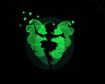 Fairy / Glow in the dark special designed machine embroidery / sizes 4x4 and 5x7 / file  INSTANT DOWNLOAD