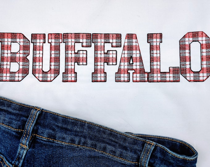 Buffalo Plaid Tartan Gingham Sport Font, letters and numbers, machine embroidery font design 2, 3, 3.5, 4, 5, 6, 7in, BX, INSTANT DOWNLOAD
