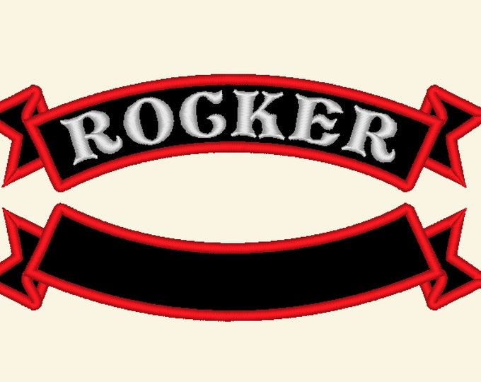 Arc shape banner for Rocker - machine embroidery applique designs for hoop 4x4 and 6x10, 8x12 banner frame applique patch INSTANT DOWNLOAD