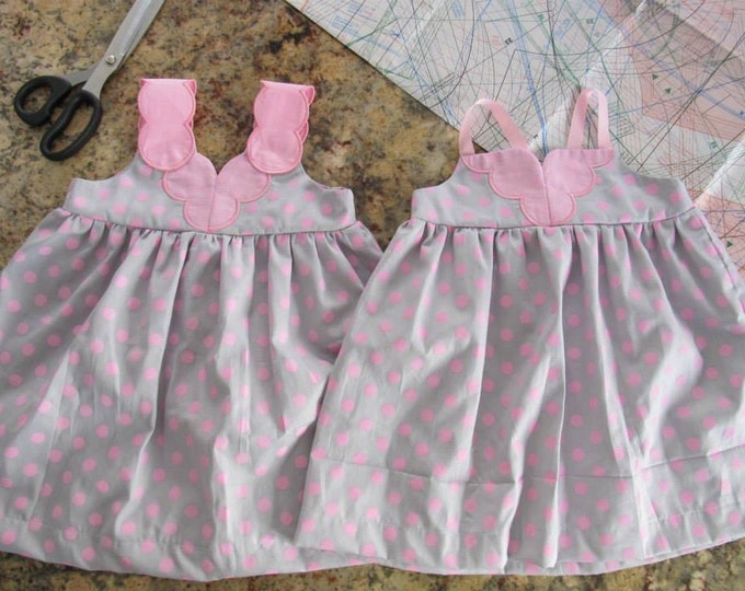 Twins Dresses 2 - machine In-the-hoop embroidery design - for hoop 5x7 full manual instruction with lot of photos is added