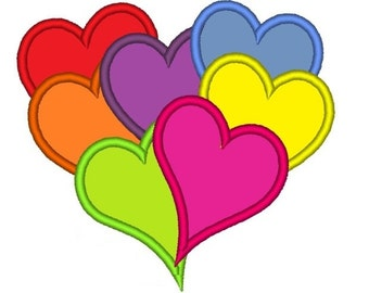 Magic valentine heart from hearts - great for boys and girls machine embroidery designs, fill stitch and applique designs 4x4, 5x7 and 6x10